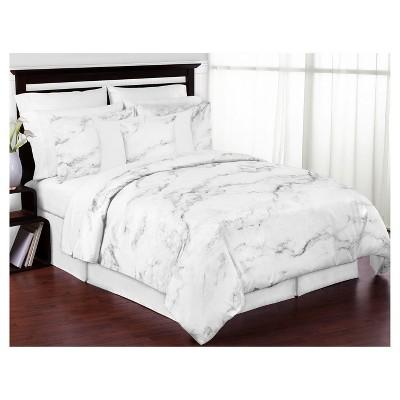 black white marble comforter set full queen sweet jojo designs