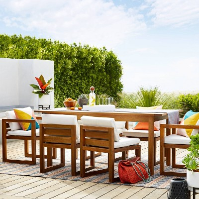 kaufmann 2pk wood patio arm chair natural project 62