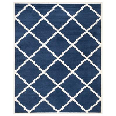9 x12 rectangle amherst outdoor patio rug navy beige safavieh