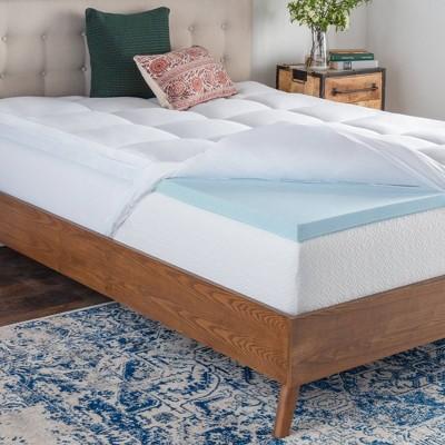 california king pillow top gel memory foam mattress topper brookside