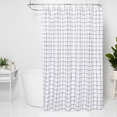 black shower curtain target