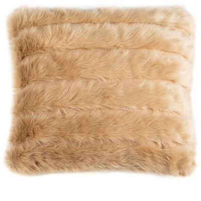 genevra fur pillow brown 20 x 20 safavieh
