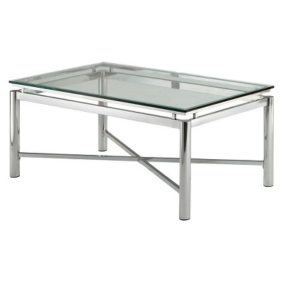 nova cocktail table chrome and glass steve silver