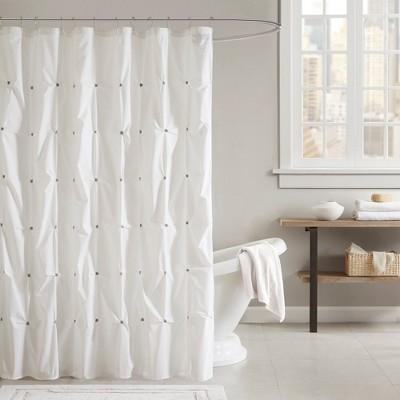 72 x72 masie cotton shower curtain ivory