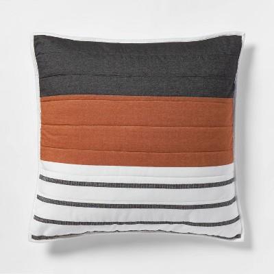 euro woven yarn dye stripe sham cream project 62 nate berkus