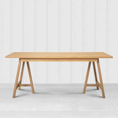 rectangle patio dining table natural hearth hand with magnolia