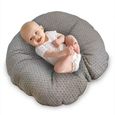 boppy preferred newborn lounger gray pennydot and watercolor stripes