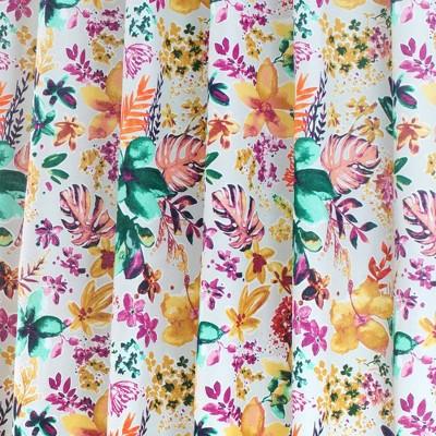 72 x72 garden party cotton fabric shower curtain nicole miller