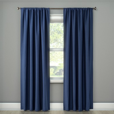 108 x50 henna blackout curtain panel blue project 62