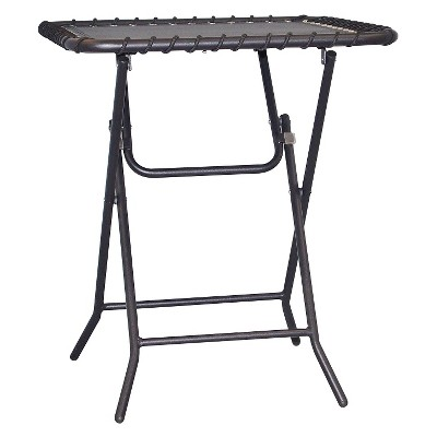 caravan patio folding table black