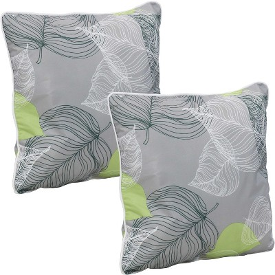 sunnydaze indoor outdoor square accent decorative throw pillows for patio or living room furniture 16 lush foliage 2pk