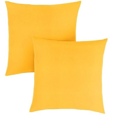 yellow outdoor throw pillows clearance