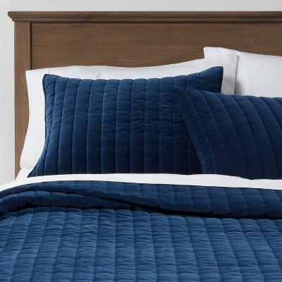 blue pillow shams target