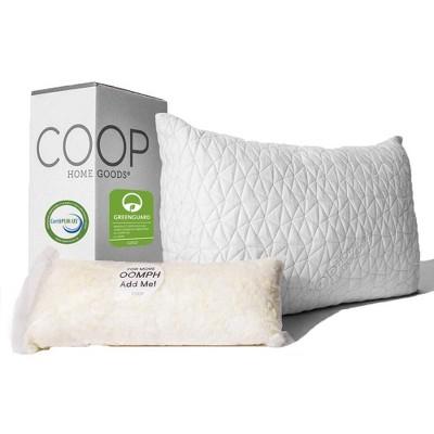 coop home goods the original queen adjustable memory foam pillow greenguard gold certified