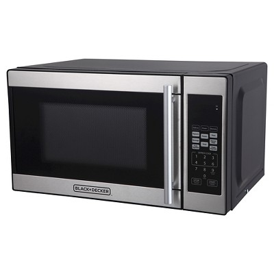 black decker 0 7 cu ft 700w microwave oven black em720cpn p