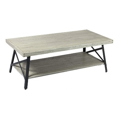 emerald home chandler 48 inch long rustic decor indoor home open storage coffee and cocktail table brushed gray
