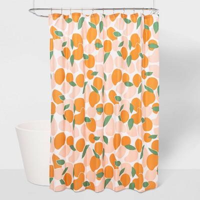 microfiber fruit shower curtain room essentials