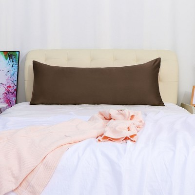 body 20 x48 silk satin for hair and skin pillow cases brown piccocasa