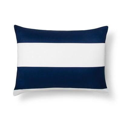 blue rugby stripe pillow sham standard