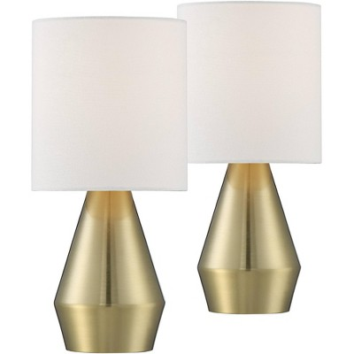 360 lighting marty 14 3 4 high brass accent table lamps set of 2