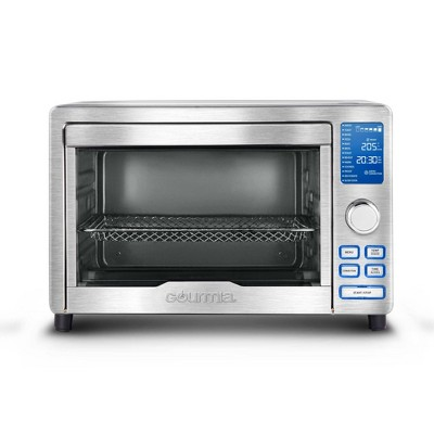 gourmia digital stainless steel toaster oven air fryer silver