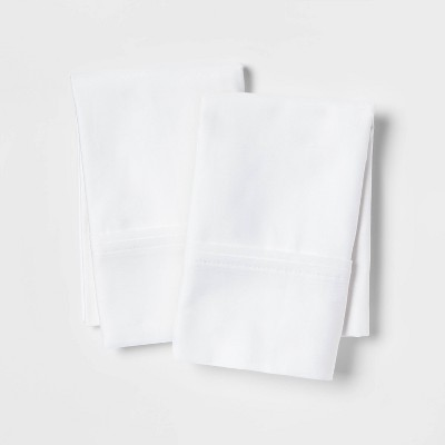 standard queen 400 thread count solid performance pillowcase set white threshold