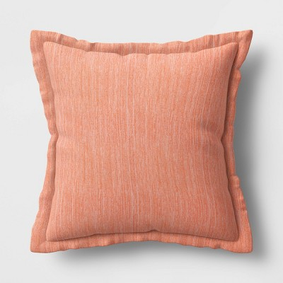 24 decorative throw pillow duraseason fabric flanged melon threshold