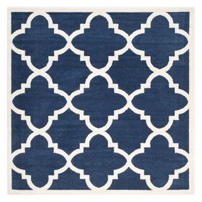 7 x7 square patio rug navy beige safavieh