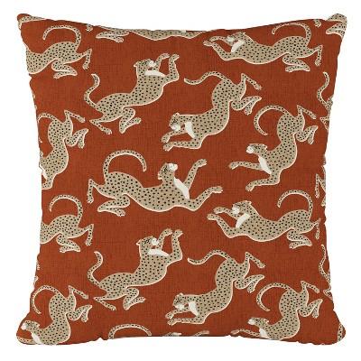 orange leopard print throw pillow skyline furniture