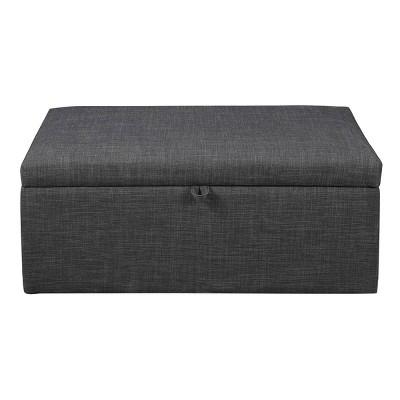 elmington storage ottoman with lift top charcoal osp home furnishings