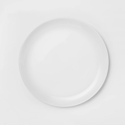 glass dinner plate 10 7 white made by design