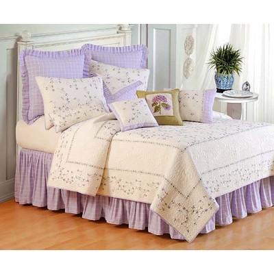 c f home 26 x 26 lavender plaid euro sham