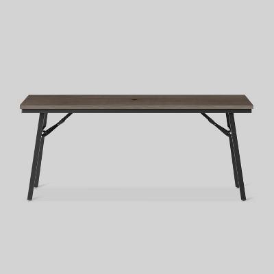 mantega faux wood rectangle folding patio dining table project 62