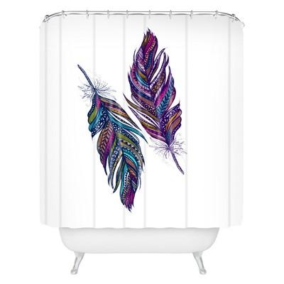 stephanie corfee festival feathers shower curtain deny designs