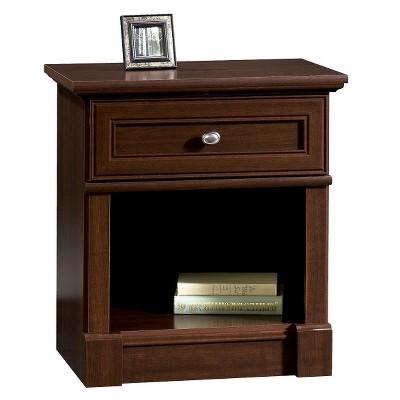 palladia nightstand dark cherry sauder