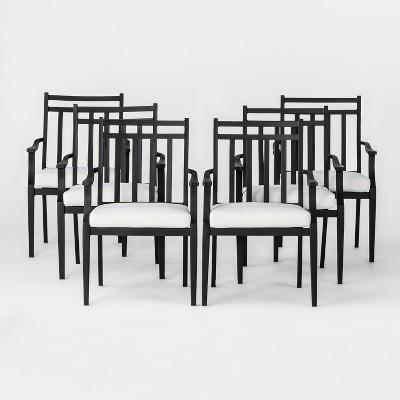 fairmont 6pk steel patio dining chairs linen threshold