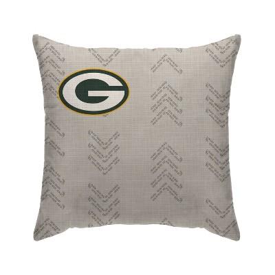 nfl green bay packers wordmark decorative throw pillow