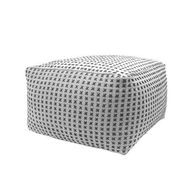 fendi modern large rectangular pouf gray christopher knight home