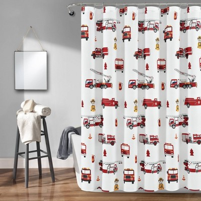 red shower curtains target