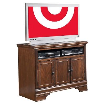 hamlyn tv stand dark brown signature design by ashley
