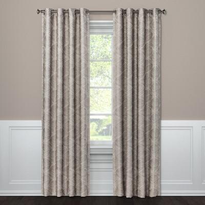 63 x50 blackout curtain panel modern stroke tan project 62