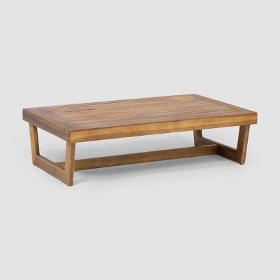 sherwod acacia wood coffee table teak christopher knight home