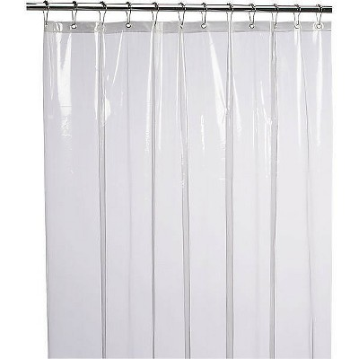 kate aurora hotel heavy duty 10 gauge vinyl shower curtain liners super clear 72 x 84 extra long shower curtain liner
