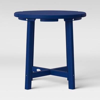 shawboro polywood side table navy threshold