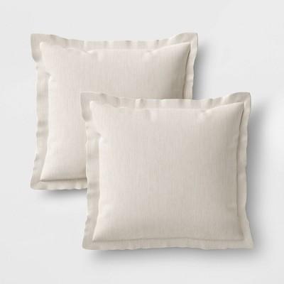 2pk outdoor pillow set duraseason fabric linen threshold