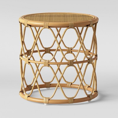 jewel round side table natural opalhouse