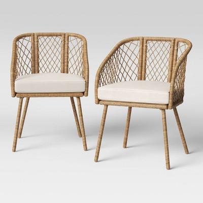 ayden 2pk barrel patio dining chair threshold