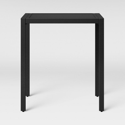 standish bar height rectangle patio table black project 62