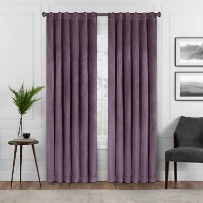 84 x50 harper velvet absolute zero blackout window panel purple eclipse