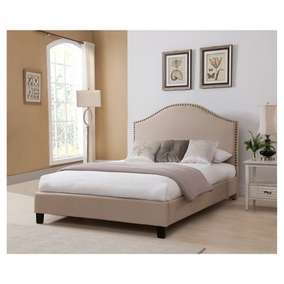 Beverly Queen Bed Headboard Set Beige   Boraam   Target
